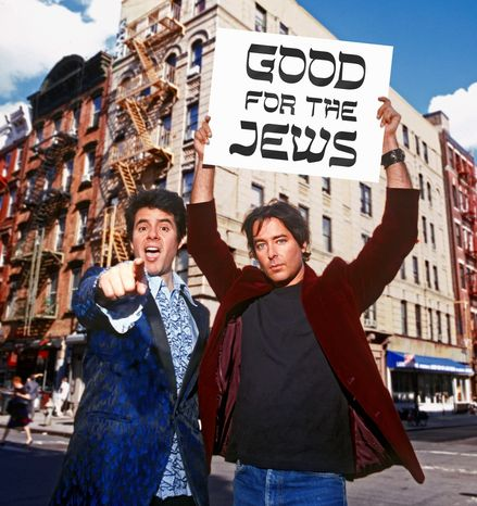 The musical act Good for the Jews -- David Fagin and Rob Tannenbaum -- takes the melancholy that imbues Jewish history, and spins it as a success story. The duo's most consistent gig takes place every year on Christmas Eve. Dec. 24 at Jammin' Java, in Vienna