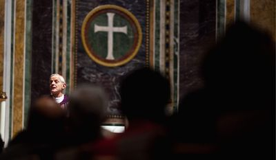 """""""With the new translation, we are forced to stop and go very slowly and reverently,"""" said Cardinal Donald Wuerl, the archbishop of Washington, of the new Roman Missal, a fresh translation of the Mass in Latin mandated by the Vatican. (The Washington Times)"""