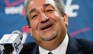 Washington Wizards owner Ted Leonsis will have his son represent the franchise at the NBA Draft Lottery on Wednesday night. Washington has a 19.9 percent chance of getting the No. 1 pick. (Andrew Harnik / The Washington Times)