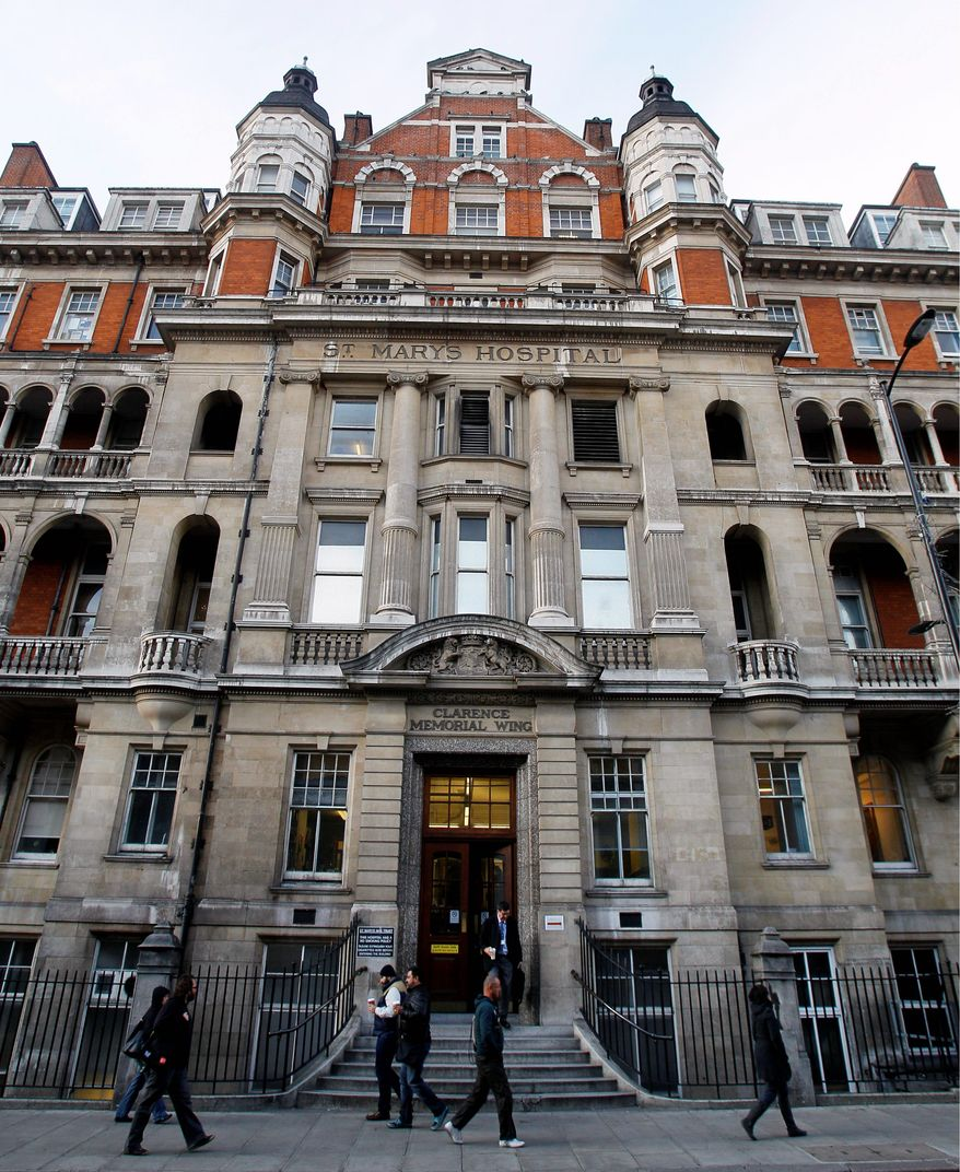 St. Mary's Hospital in Paddington is where Alexander Fleming discovered penicillin. An undisclosed number of hospitals are scheduled to be shut down. Rumors say St. Mary's will be one of the facilities to go. (Associated Press)