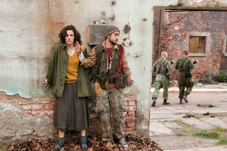 "Zana Marjanovic (left) and Boris Ler are caught up in the war in Bosnia in the film written and directed by Angelina Jolie titled ""In the Land of Blood and Honey."" (Film District via the Associated Press)"