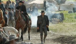 """AMC's """"Hell on Wheels,"""" a Western starring Anson Mount and Common, has been renewed for another season. (Courtesy AMC)"""
