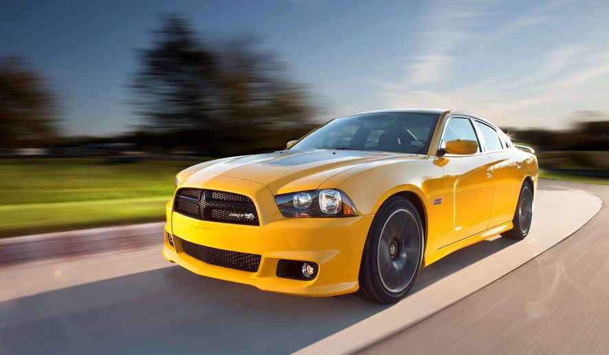 The 2012 Charger SRT8 Super Bee features the SRT exclusive three-spoke contoured performance steering wheel.
