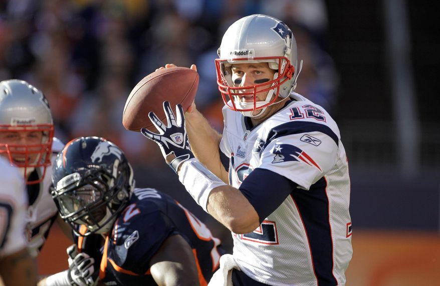 Tom Brady and the New England Patriots can clinch home-field advantage with a win against Buffalo on Sunday. (Associated Press)