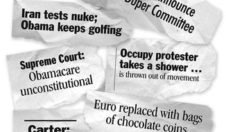 Illustration: 2012 headlines
