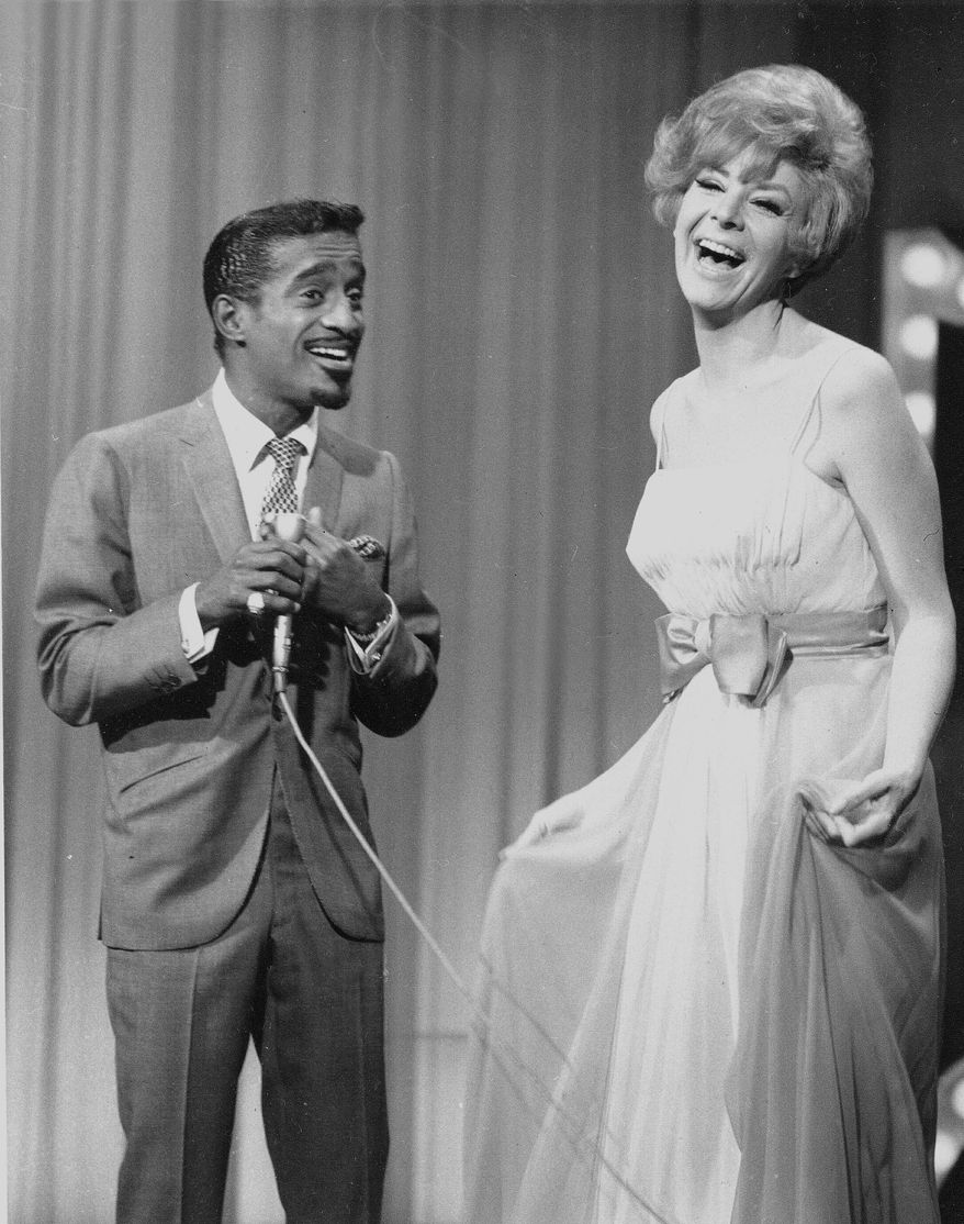 Singer Kaye Stevens, who died Wednesday at 79, performed with Sammy Davis Jr. and other members of the Rat Pack. She was an actress and singer who performed for U.S. troops as part of Bob Hope's USO tour. (Associated Press)