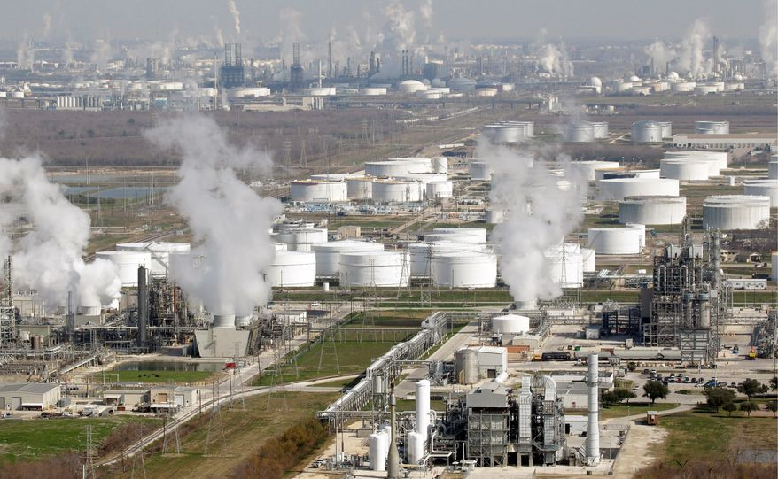 Because oil production from Mexico and Venezuela has fallen drastically in the past decade, Gulf Coast refineries like this one in Deer Park, Texas, now have the capacity to process an additional 500,000 barrels per day of Canadian crude that would come through the Keystone pipeline. (Associated Press)