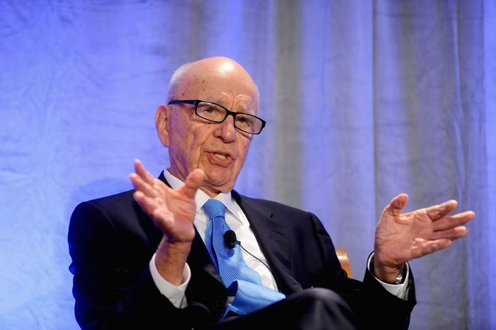 ** FILE ** News Corp. CEO Rupert Murdoch delivers a keynote address at the National Summit on Education Reform on Friday, Oct. 14, 2011, in San Francisco. (AP Photo/Noah Berger)