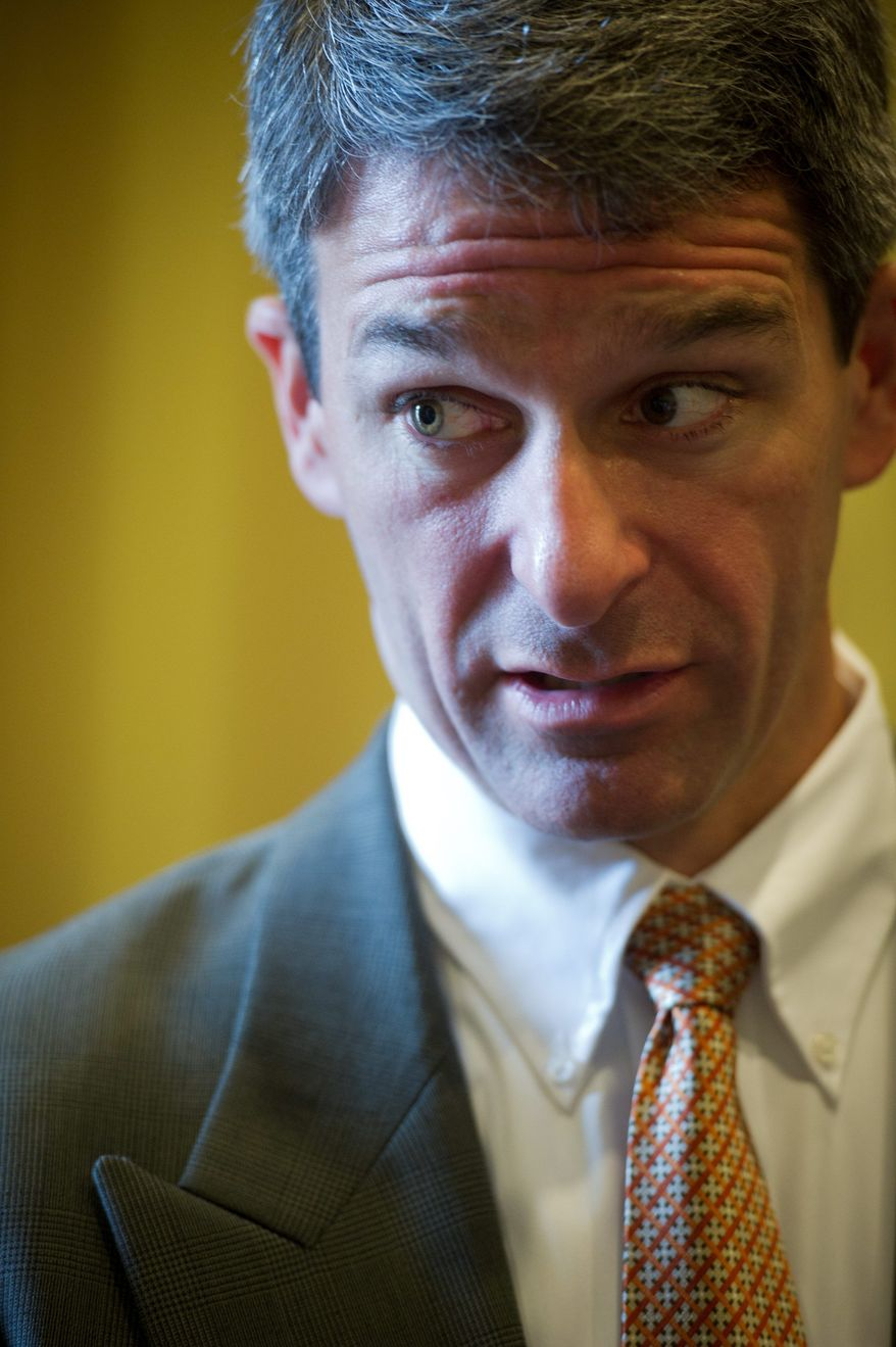 Virginia Attorney General Kenneth T. Cuccinelli II has made well known his opposition to the state's stringent ballot-access requirements, but has backpedaled from calling for a retroactive change in the law. (Rod Lamkey Jr./The Washington Times)
