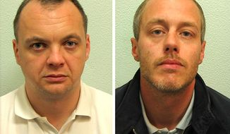 These undated photos released by England's Crown Prosecution Service show Gary Dobson (left) and David Norris, who were found guilty Jan. 3, 2012, of murdering Stephen Lawrence in London in April 1993. (Associated Press/Crown Prosecution Service)