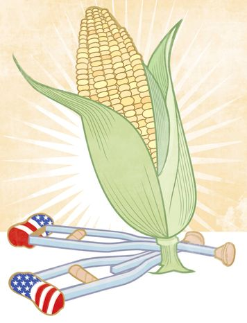 Illustration: The corn crutches by L
