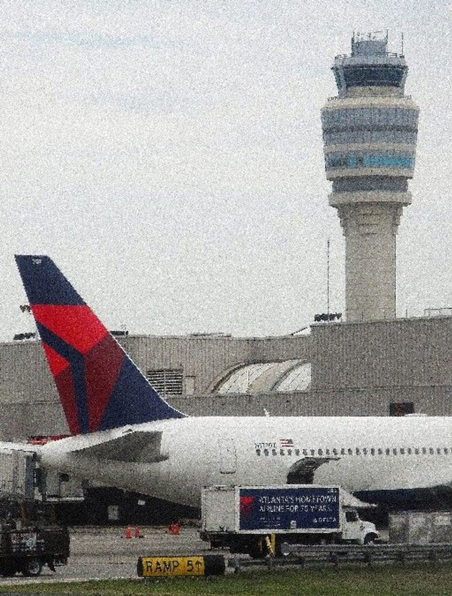 ** FILE ** Delta Air Lines Inc., based in Atlanta, is the world's second-largest airline in passenger traffic behind United. Lufthansa is the fifth-largest, and the second-largest in Europe. (Associated Press)