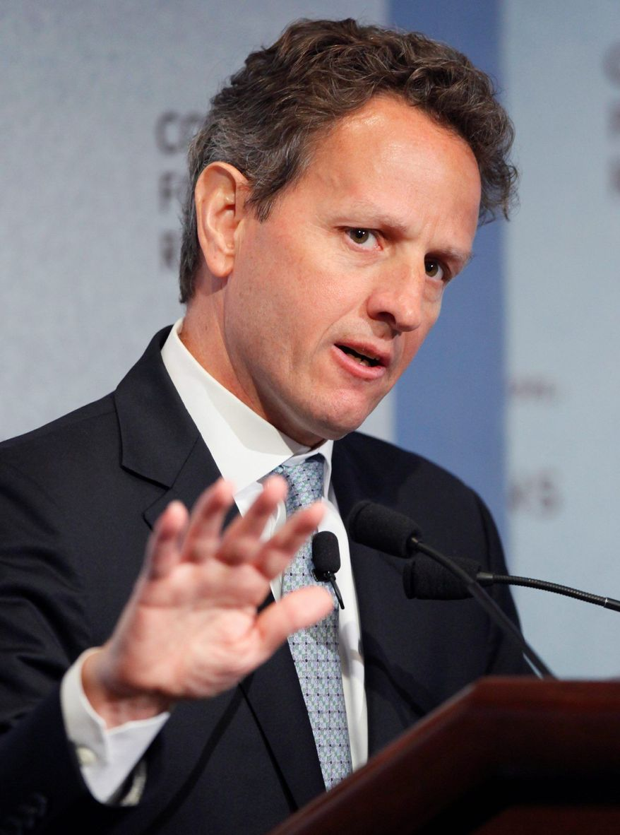 ** FILE ** Timothy F. Geithner (Associated Press)