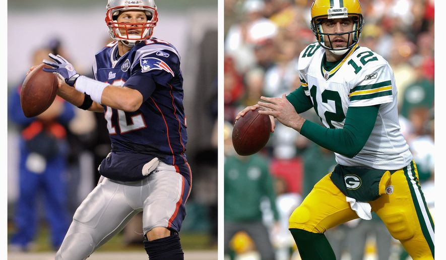 New England Patriots quarterback passed for 5,235 yards, second in the league, and 39 touchdowns, fourth in the league. Green Bay Packers QB Aaron Rodgers threw for the fifth-most yards, 4,643, and second-most TDs, 45. (Associated Press)