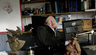 Stephen Hawking, in his office at England's Cambridge University last month, in this 2012 file photo. (The Science Museum via Associated Press)