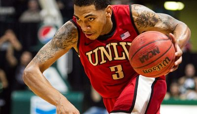 Guard Anthony Marshall and UNLV upended North Carolina in Las Vegas, a victory that should hold up well when the calendar turns to March. (Associated Press)
