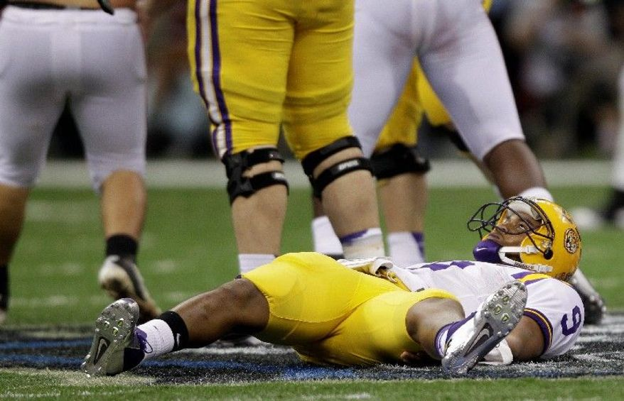 Quarterback Jordan Jefferson and LSU were down and out against an Alabama defense that allowed just 92 yards. (Associated Press)