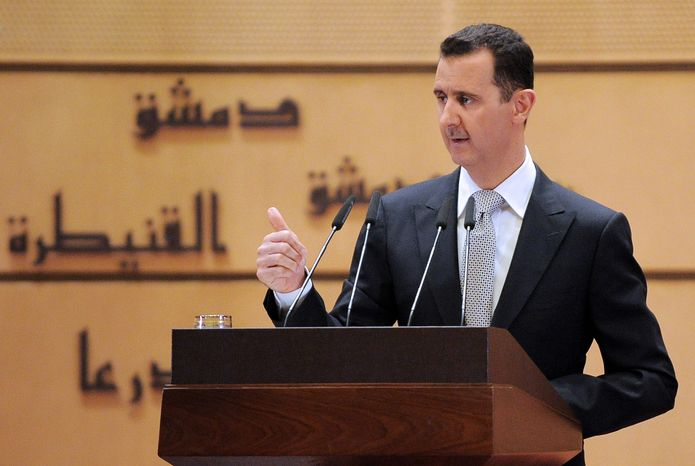 Syrian President Bashar Assad, in a speech Tuesday at Damascus University, said he would not step down and insisted that he still has his people's support despite a 10-month