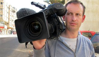 French television cameraman Gilles Jacquier, shown in an undated photo, was killed on Wednesday, Jan. 11, 2012, in Homs, Syria, while on assignment. (AP Photo)