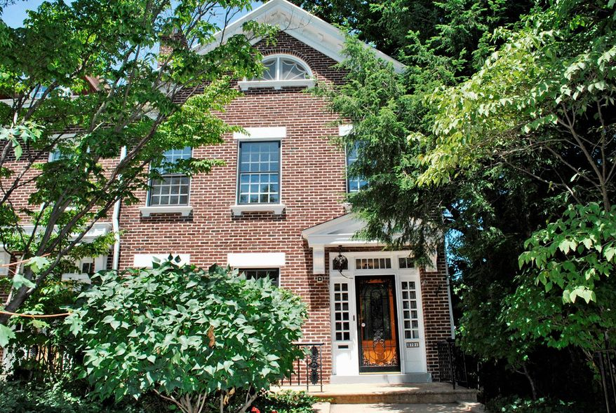 The town home at 3721 Jenifer St. NW in Chevy Chase is on the market for $879,000
