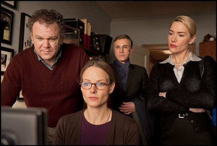 "From left, John C. Reilly, Jodie Foster, Christoph Waltz and Kate Winslet co-star in the claustrophobic ""Carnage."" (Sony Pictures Classics)"