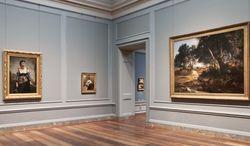 One of the re-installed exhibits at the National Gallery of Art's West Building is a gallery devoted to the Barbizon school and works by Jean-Baptiste-Camille Corot. (Photograph courtesy National Gallery of Art)