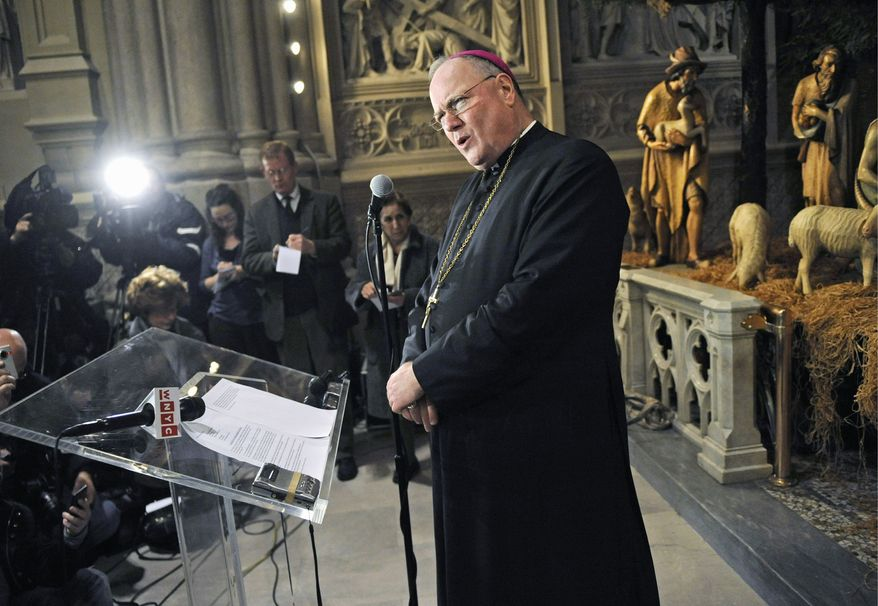 ** FILE ** Archbishop Timothy Dolan (Associated Press)