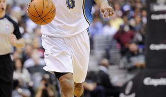 ** FILE ** Wizards guard Maurice Evans. (Associated Press)