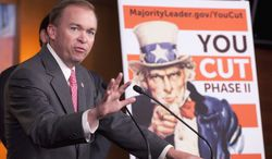 """""""A lot of us who went into battle turned around and no one was behind us,"""" said Rep. Mick Mulvaney, South Carolina Republican, in reference to House Republicans' revolt before Christmas against the Senate-passed deal to extend the payroll-tax cut. The showdown turned into a political debacle for the GOP. (Associated Press)"""