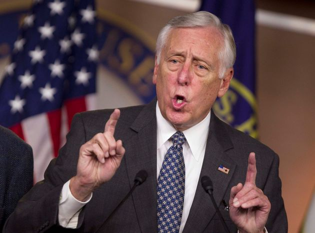 """House Minority Whip Rep. Steny H. Hoyer, Maryland Democrat, says the new Congress is likely to be just as acrimonious as last year. """"The only thing that we have on this week's agenda is a charade, a pretense, an abdication of responsibility."""" (Associated Press)"""