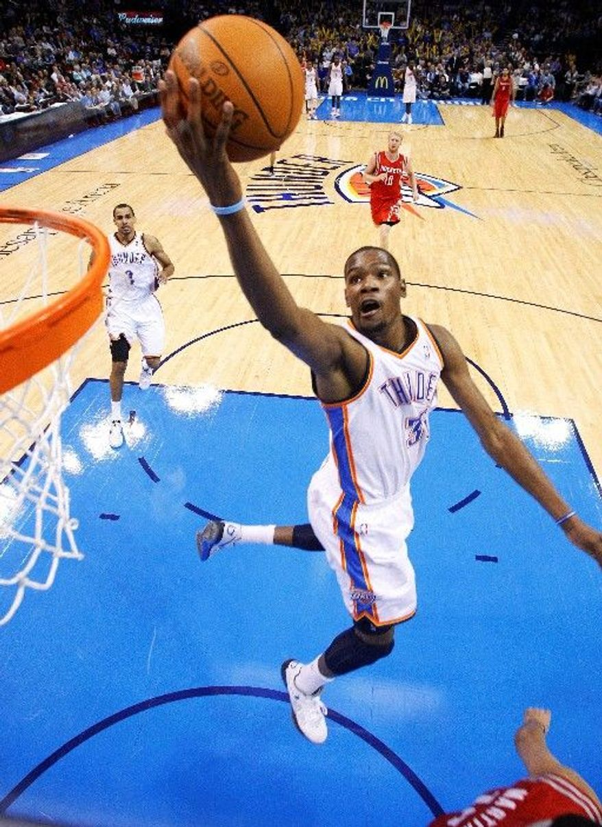Kevin Durant and the Oklahoma City Thunder lead the Northwest Division by three games.
