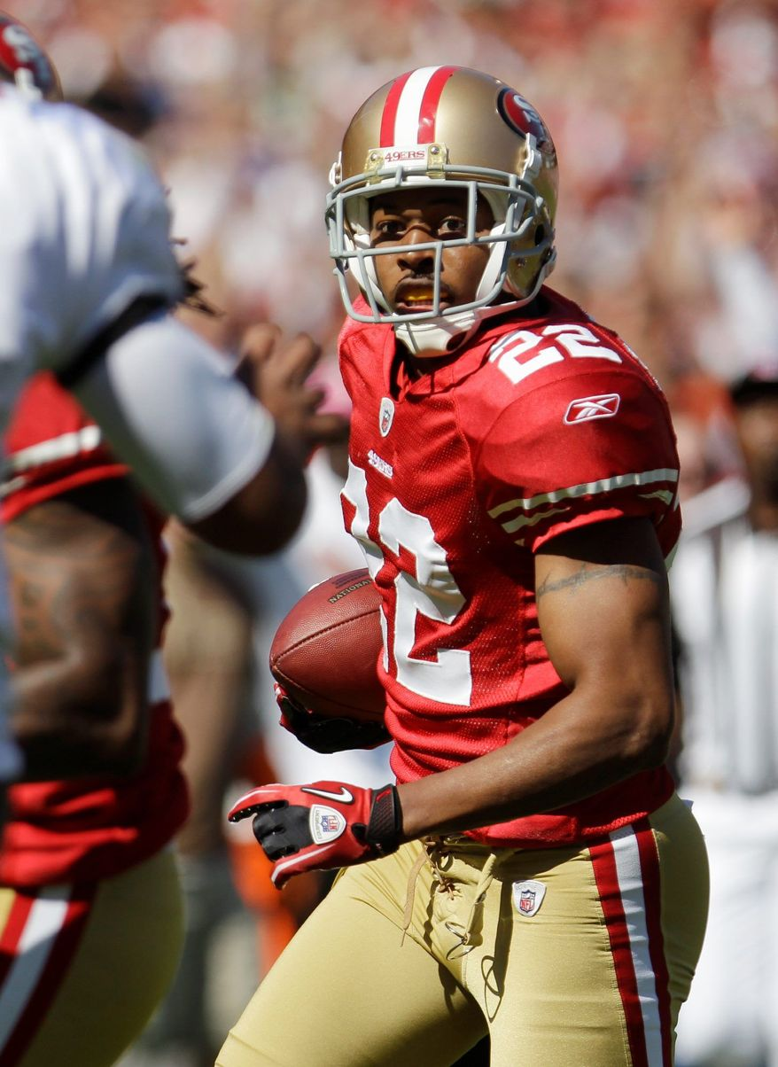 Cornerback Carlos Rogers had six interceptions in his first season with San Francisco. He never had more than two in any of his six seasons with Washington. (Associated Press)