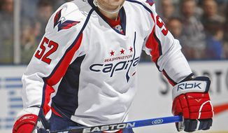 Washington Capitals defenseman Mike Green was suspended for three games for his hit to the head of Tampa Bay Lightning forward Brett Connolly on Thursday, March 8, 2011. (Associated Press)