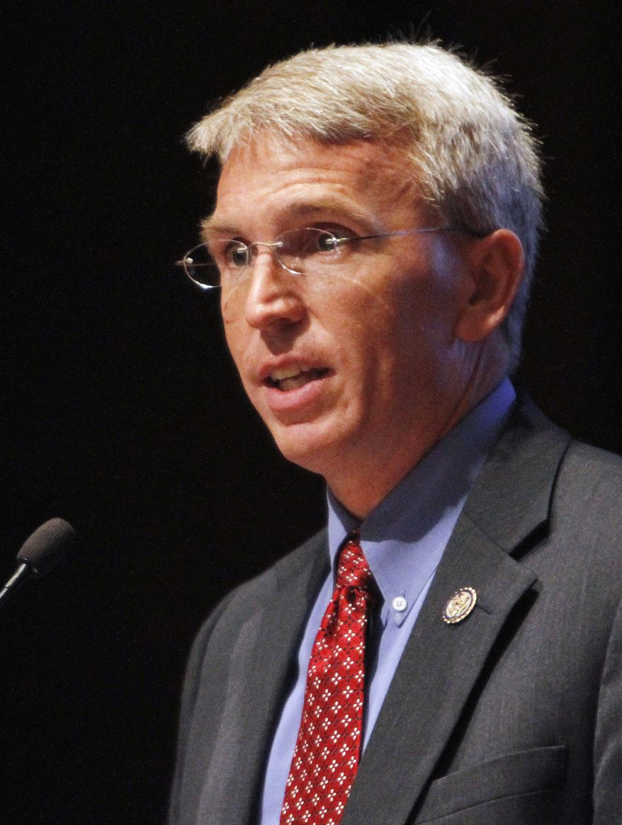 ** FILE ** In this Sept. 15, 2011 file photo, Rep. Todd Platts, Pennsylvania Republican, speaks on Capitol Hill in Washington. Platts is leaving Congress after 12 years, saying he's a believer in term limits. (AP Photo/Jacquelyn Martin, File)