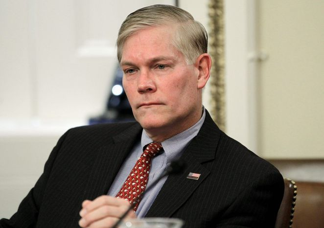 """""""House Republicans once again rejected the Obama administration's pursuit to continue its reckless spending binge and reaffirmed our commitment to fiscal responsibility,"""" Rep. Pete Sessions, Texas Republican, said of Wednesday's 239-176 House vote. (Associated Press)"""