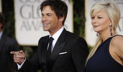 Rob Lowe and wife Sheryl arrive for the 69th Annual Golden Globe Awards Sunday, Jan. 15, 2012, in Los Angeles. (AP Photo/Chris Pizzello)