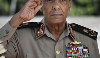 ** FILE ** Egyptian Field Marshal Hussein Tantawi (AP Photo/U.S. Department of Defense, Master Sgt. Jerry Morrison, File)