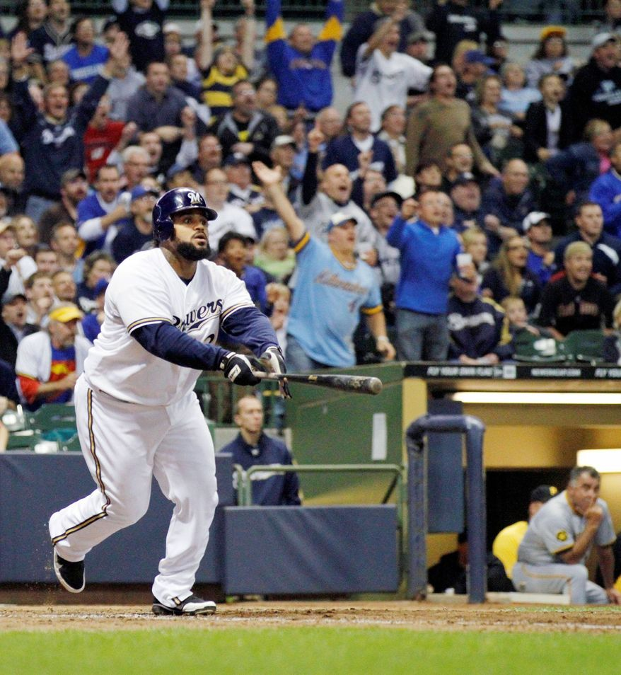 Former Brewers slugger Prince Fielder has averaged 38 home runs in the past six seasons. Will he be testing the fences at Nationals Park? (Associated Press)
