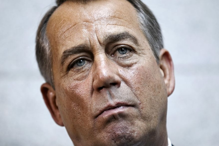 House Speaker John Boehner, Ohio Republican, speaks Jan. 18, 2012, on Capitol Hill as the House returned to work from its winter recess. (Associated Press)