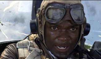 "David Oyelowo portrays Joe ""Lightning"" Little in a scene from the film ""Red Tails."" (Associated Press/20th Century Fox)"
