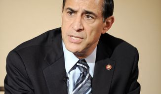 """The assertion of the Fifth Amendment by a senior Justice official is a significant indictment of the department's integrity,"" Rep. Darrell Issa, California Republican, says. (Rod Lamkey Jr./The Washington Times)"