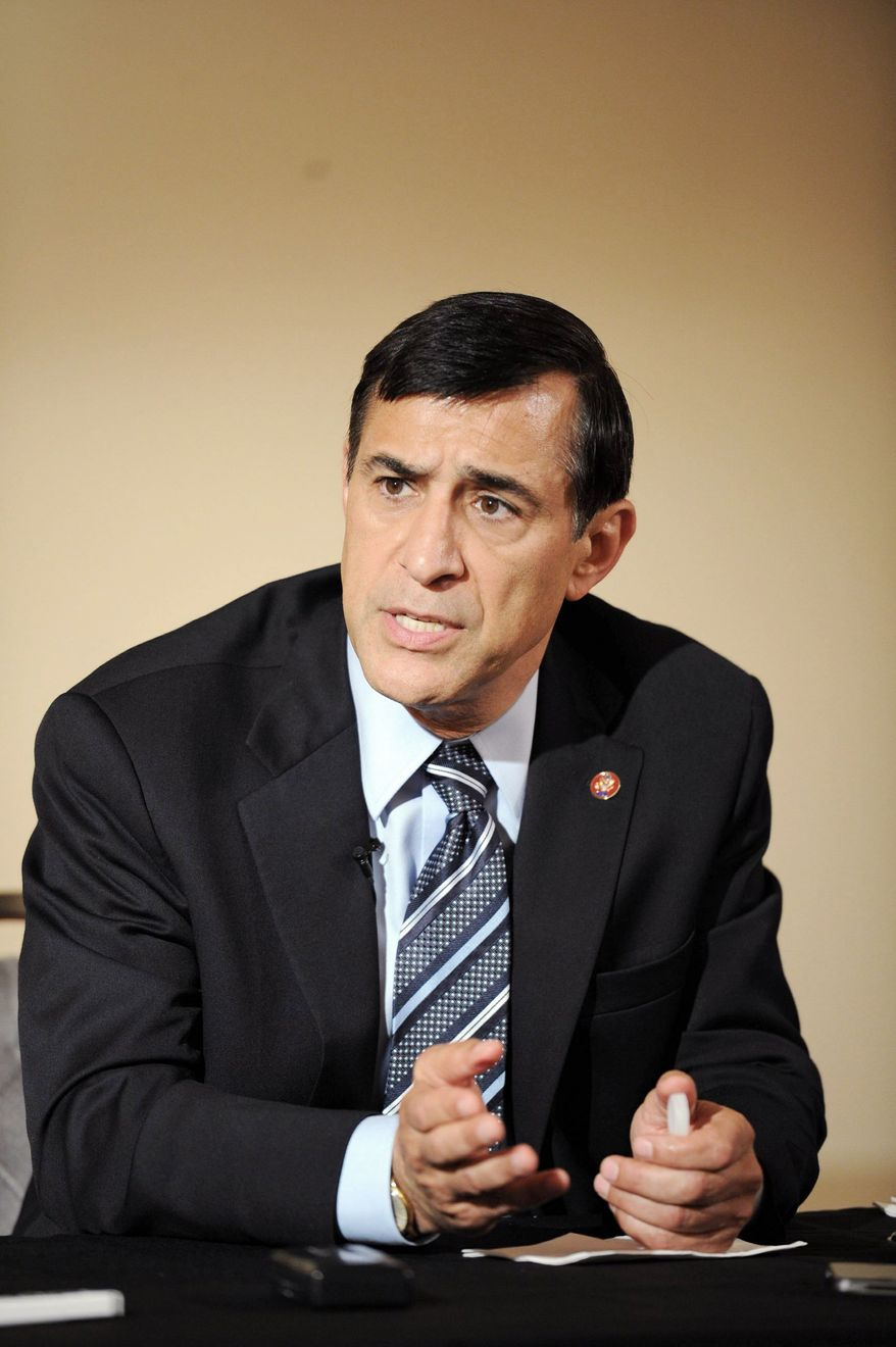 """""""The assertion of the Fifth Amendment by a senior Justice official is a significant indictment of the department's integrity,"""" Rep. Darrell Issa, California Republican, says. (Rod Lamkey Jr./The Washington Times)"""