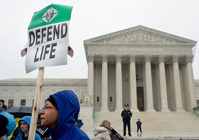 ** FILE ** Gina Hall of Largo, Md., was among the thousands of people to march to the U.S. Supreme Court in Washington, D.C., on Monday, Jan. 23, 2012 in hopes of overturning Roe v. Wade as part of the March for Life. (Barba