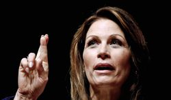 """Rep. Michele Bachmann, Minnesota Republican, will seek a fourth term. """"I'm looking forward to coming back and bringing a strong, powerful voice to Washington, D.C.,"""" she said Wednesday, less than a month after ending her presidential bid. (Associated Press)"""