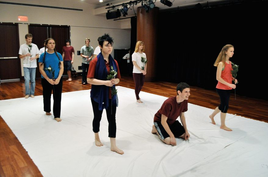 The Shakespeare Theatre Company runs a summer camp that teaches acting skills and culminates in a performance of Shakespearean scenes onstage. (Shakespeare Theatre Company)