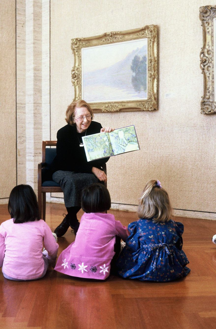 The storytime program at the Kreeger Museum for children ages 3 to 5 includes a story, a view of artwork and a hands-on art-making experience. (Kreeger Museum)