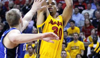 Maryland forward Ashton Pankey has decided to leave the school for family reasons. (Associated Press)