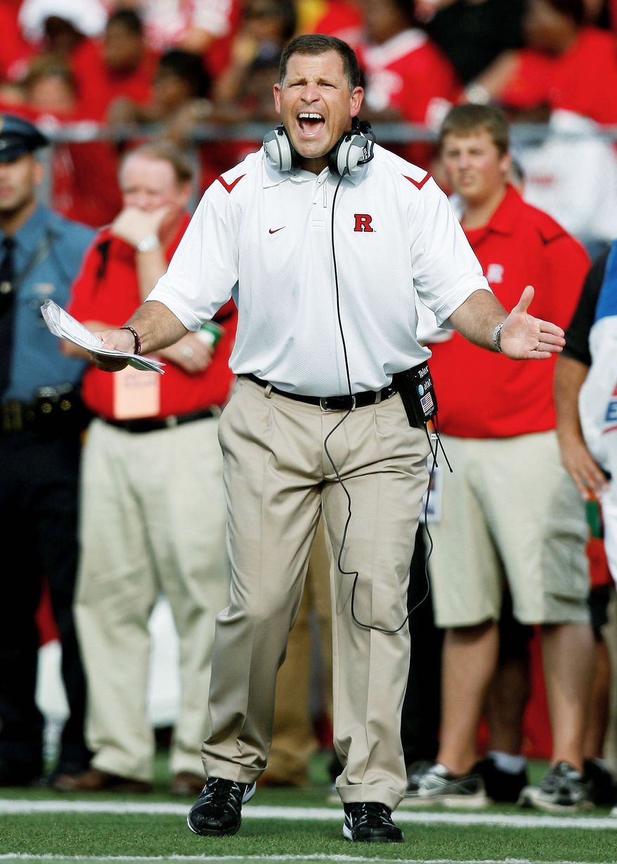Greg Schiano led Rutgers to winning records in six of the last seven years. He'll take over at Tampa Bay, which was 4-12 this season. (Associated Press)