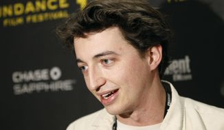 "Film director Benh Zeitlin talks about his movie ""Beasts of the Southern Wild"" after it won the grand jury prize in the U.S. dramatic competition at the Sundance Film Festival in Park City, Utah, on Saturday, Jan. 28, 2012. (AP Photo/Danny Moloshok)"