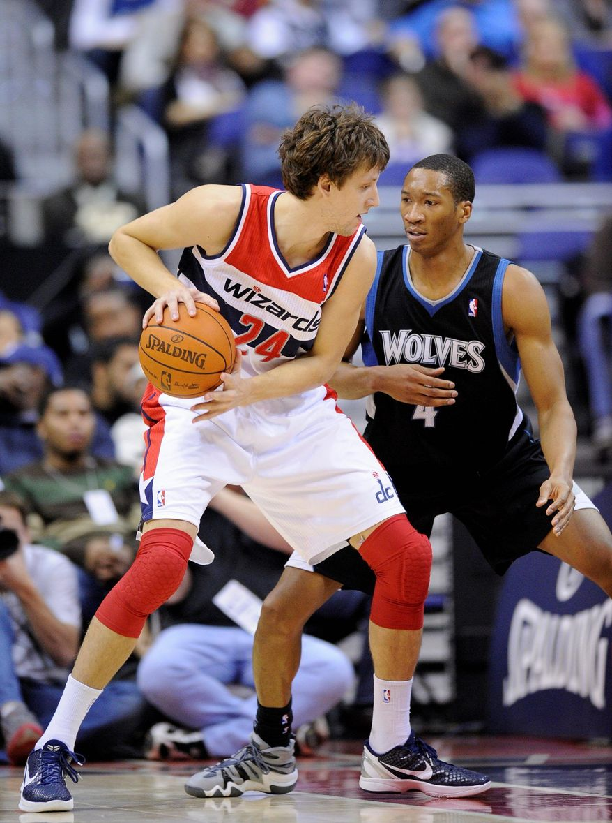 Rookie forward Jan Vesely plays with a high-energy, maximum-effort style that is favored by new Wizards coach Randy Wittman. Vesley is averaging 2.6 points and 2.9 rebounds in 13 games. (Associated Press)